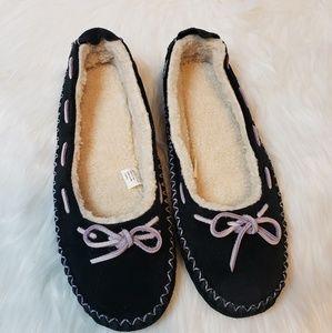 Womens LL Bean Hearthside Moccasin Slippers